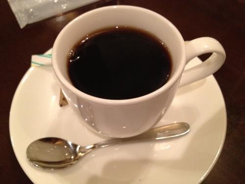 beer hall CAVERNの食後のコーヒー